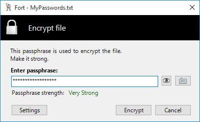 Image result for Fort - file encryption for Windows 2.0