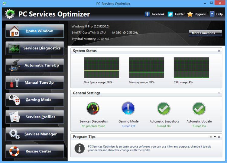 Download Pc Services Optimizer V2 Freeware