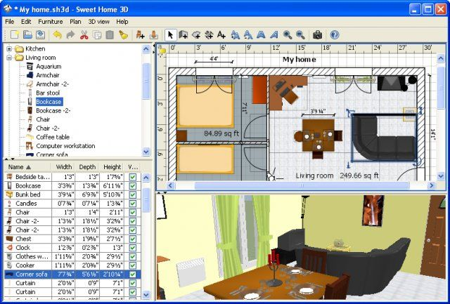 Download Sweet Home 3d V5 4 Open Source Afterdawn: home modeling software
