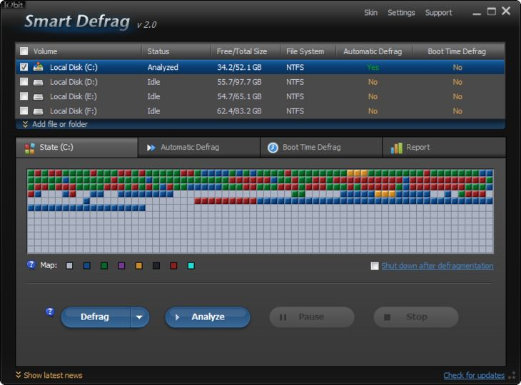 Iobit smart defrag 2.1 beta 4.03