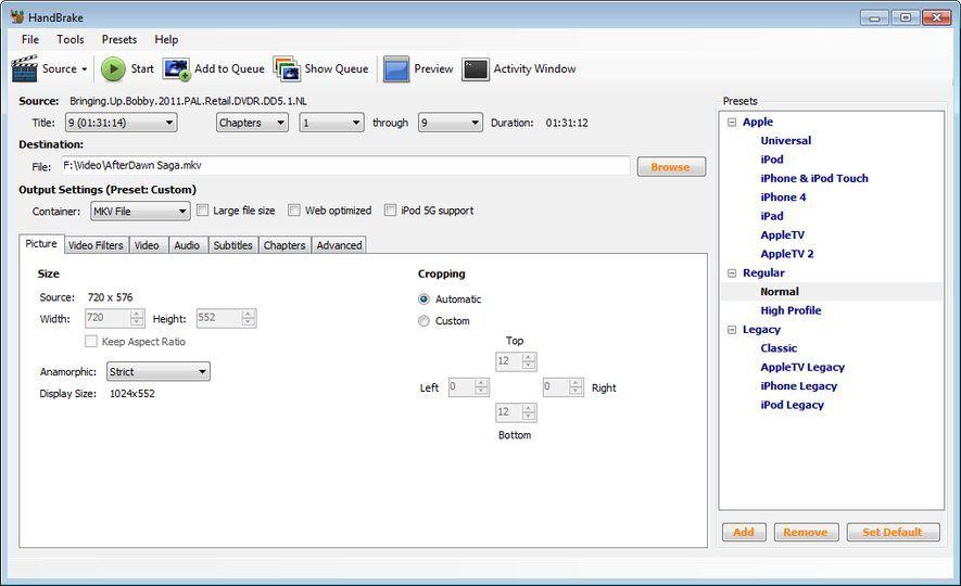 Resultado de imagen para HandBrake v1.0.1