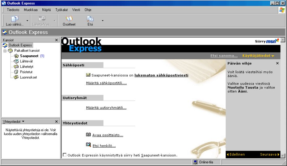 how to  outlook express on windows xp
