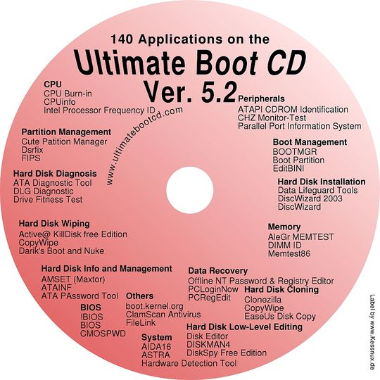 Ultimate Boot CD 5.3.2 ISO Full Version Free Download