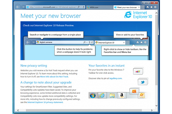 Internet Explorer 10 kan nu hentes til Windows 7