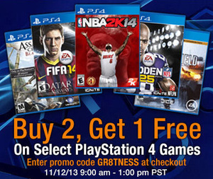 Promo: Buy 2 PS4 games, Get 1 FREE at Amazon from Tuesday