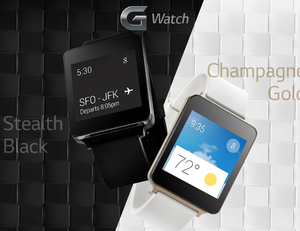 LG G Watch is water resistant, always on