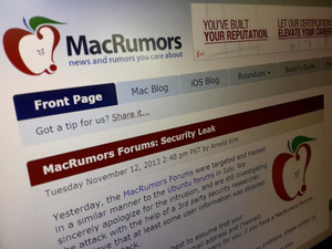 MacRumors forum hacked and nearly a million accounts compromised, but hacker won't share