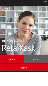 VIDEO: Peak at Skype for Windows Phone 8