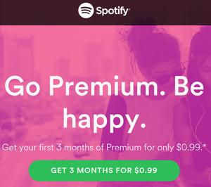 spotify premium 3 månader