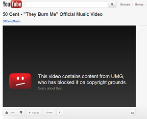 Universal Music takes down YouTube video from its own artist