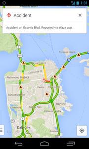 Google hy�dynt�� karttaostostaan - Wazen liikennetietoja Google Mapsiin