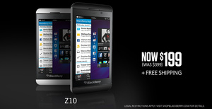 BlackBerry drops price of unlocked Z10 to $199, while supplies last